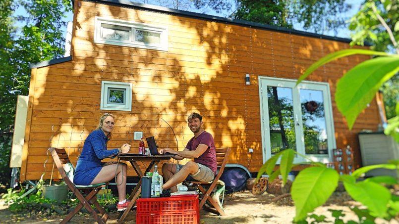 Max über das Leben im selbstgebauten Tiny House